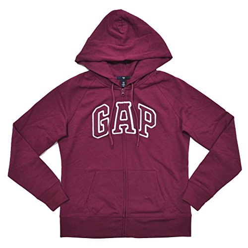 [해외]GAP Womens Fleece Arch 로고 풀 지퍼 까마귀/GAP Womens Fleece Arch Logo Full Zip Hoodie