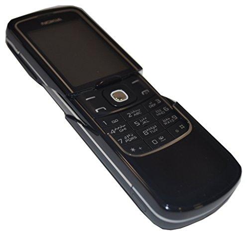 Nokia 8600 Luna (English + Arabic Keypad) 128MB Classic Mobile Phone Factory Unlocked 2G GSM (Black) - International Version