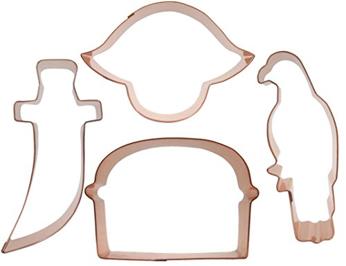 Pirate Cookie Cutter Set, in solid copper, by CopperGifts.com by CopperGifts.com LLC