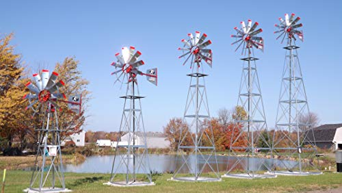 Mescan Windmills LLC | 13' Pond Water Aerator | American Eagle | Wind Mill Aeration System