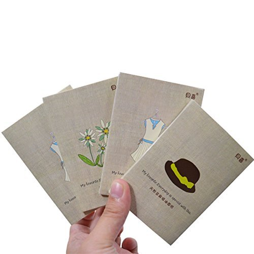 Mily Makeup Blotting Paper - Professional Papers for Removing Facial Oil and Saving Makeup on Face - 100% All Natural Flax Sheets Pack of Four by Mily