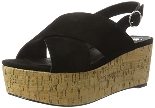 SPM Casma Cork Sandal - Sandalias Mujer negro