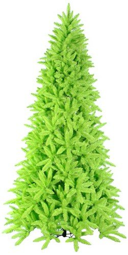 vickerman pre lit slim lime green ashley spruce christmas tree with clear and green lights - Lime Green Christmas Tree
