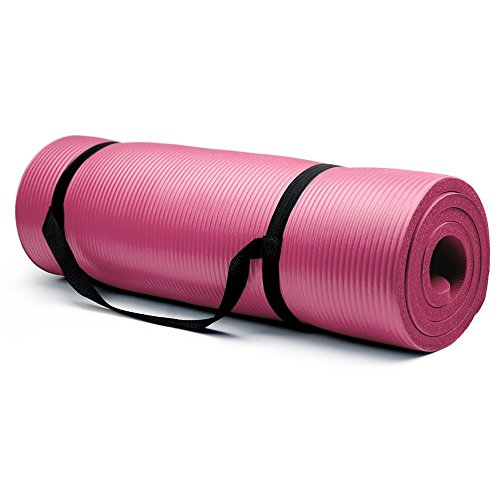 Crown Sporting Goods 5/8-Inch Extra Thick Yoga Mat with No Stick Ridge – DiZiSports Store