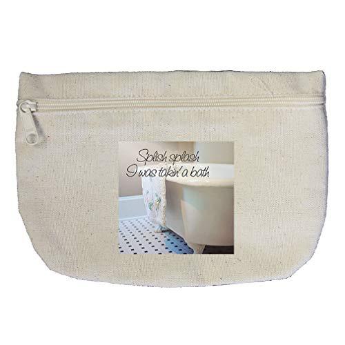 Splish Splash I Was Taking A Bath In The Tub #3 Cotton Canvas Makeup Bag