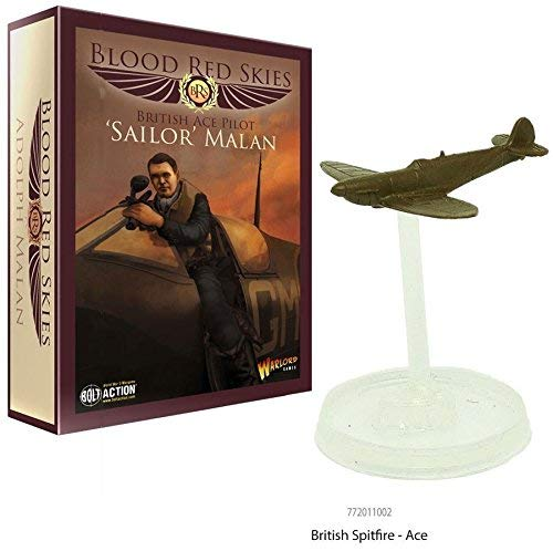 Warlord Games, Blood Red Skies - British Ace Pilot Sailor Malan set - Wargaming miniatures