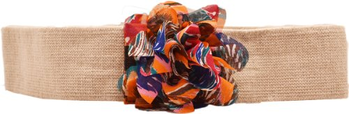 UPC 848767003953, Style & Co. Stretch Belt Cinch Wide Natural With Multi Color Flower (M/L)