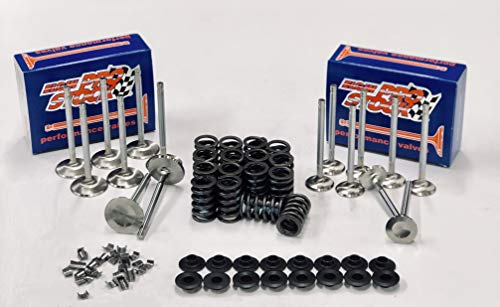 New Z28 Springs, 2 02 & 1 6 Head Dia Stainless Steel Valve Kit compatible  with Chevy Small Block 400 350 327 (stock)