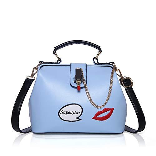 Tracolla A Blue Lady Fashion Red Diagonale A Borsa Lips Tracolla X4SfpxwqF
