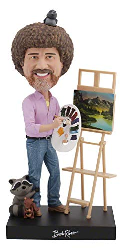 Royal Bobbles Bob Ross Bobblehead, Collectible Bobblehead Figurines
