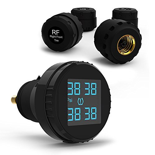CARCHET TPMS Tire Pressure Monitoring System with 4 External Sensors Cigarette Lighter