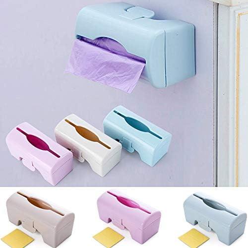 YZY Plastic Bag-Aufbewahrungsbehälter Müll Abfall-Taschen Lagercontainer Mehrzweckküchenwerkzeuge Gewebewand-Dose (Color : Blue)