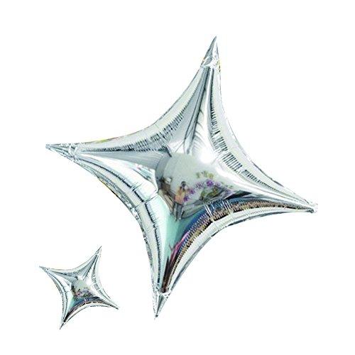 20pcs Star Shape Silver Balloons Foil Mylar Helium Balloon 26