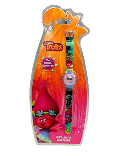 Trolls| Branch digital watch,kids Watch,Children Digital Watch , official Licenced (Kids Fancy Dress Next Day Delivery)