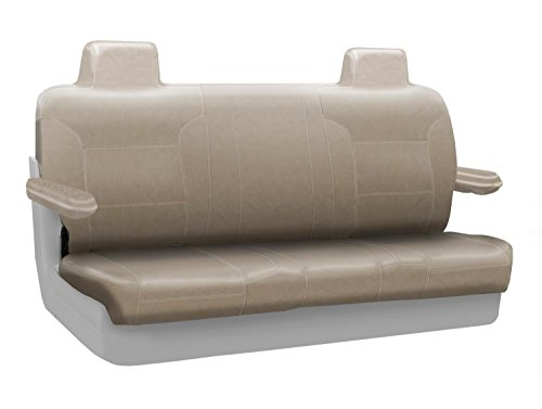 Coverking Custom Seat Cover for Select Lincoln Town Car Models - Premium Leatherette (Taupe) ()
