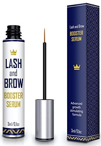 Natural Lash Growth Serum – Eyebrow Growth Enhancer – Eyelash Booster to Grow Longer Eyelashes – Lash Boost & Brow…