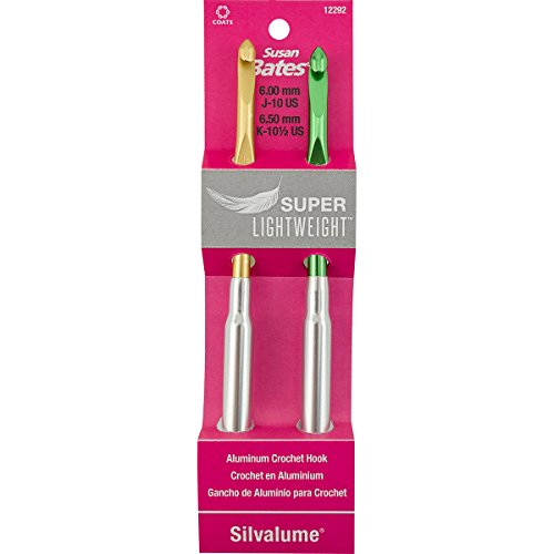 Silvalume Crochet Hook Set - Susan Bates Silvalume Super Lightweight Aluminum Crochet Hook Set-Sizes J10 & K10.5