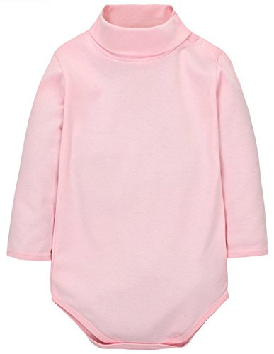 Jingle Bongala Sunnysame Baby Boys Girls Fall Cotton Long-Sleeve Turtleneck Bodysuit Romper ()