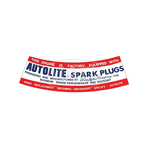 MACs Auto Parts 60-47029 Air Cleaner Decal - Autolite Spark Plug -