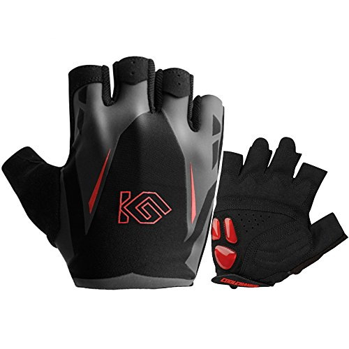 Cycling Gloves - CoolChange Bike Gloves Liquid Gel Pad Shockproof |Flexible Wrist Band | Breathable Mountain Bike Gloves Biking Bicycle Gloves Sports Gloves for Men Women (Red XXL:9.45''-10.24'')