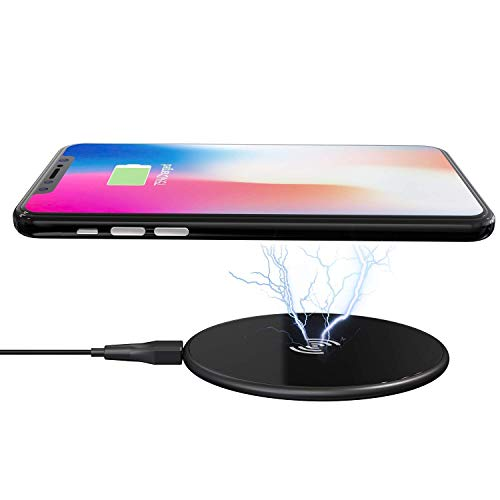 - 15W Wireless Charger,Glamore Qi-Certified Wireless Charging Pad, Compatible iPhone Xs Max/XR/XS/8/8 Plus,iPhone X, Fast Charging Samsung Galaxy S9/S9+/S8/S8+/S7/S7 Edge More(No AC Adapter) (Black-15W)