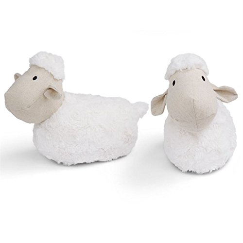 Mud Pie Baby Nursery Decor 2 Piece Weighted Lamb Bookends by Mud Pie
