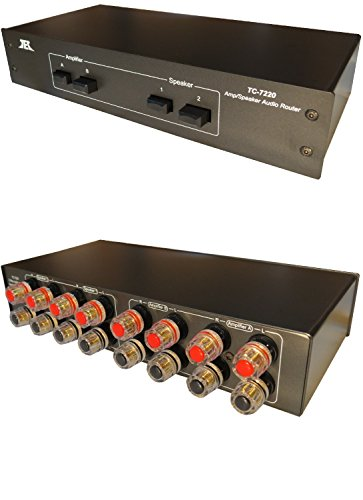(TC-7220 2-Way Amplifier Speaker Selector Switch Switcher Comparator Crossover Router)