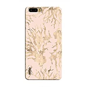 Cover It Up - Pink Pastel Nature Print Honor 6 Plus Hard Case