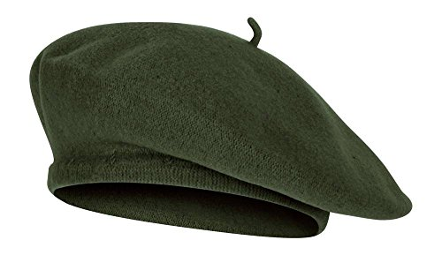 TOP HEADWEAR TopHeadwear Wool Blend French Bohemian Beret, Forest Green by TOP HEADWEAR