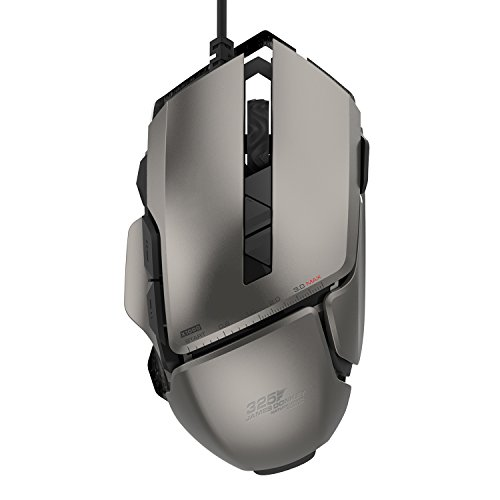 James Donkey 325RS Gaming Mouse 7200DPI Pixart PMW3330 Optical with Aluminum Alloy with Macro RGB Chroma Light 20 Million Click Switch Ergonomic Wired Gamer Mice for Windows Mac Laptop PC - Gray (Google Modular)