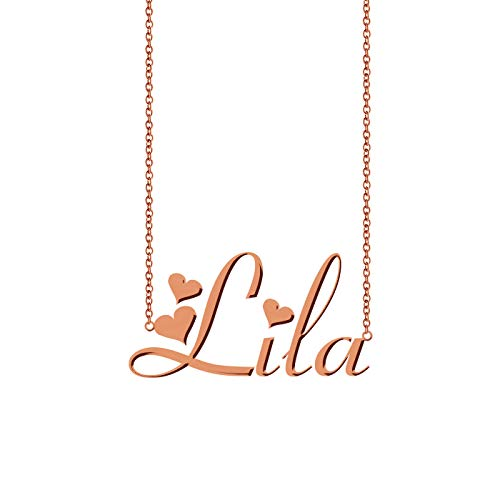 HUAN XUN Customized Any Name Necklace Lila - Gold Lila Necklace