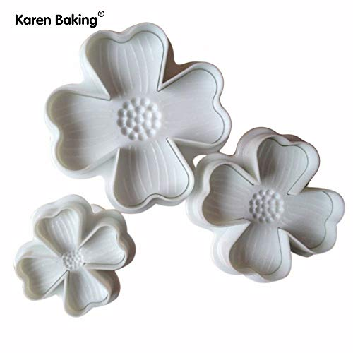 - 1 piece 3PCS Lucky Clover Shaped Cookies Machine Plunger Paste Sugar Craft Decorating Tools A079