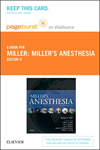 Miller's Anesthesia - Elsevier eBook on VitalSource (Retail Access Card), 8e