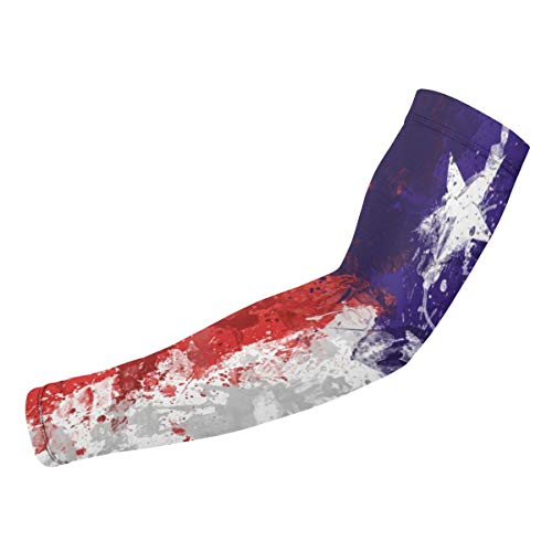EWSOFM Water Print American Texas State Flag Art Arm Sleeves UV Protection Cooling for Men Women Sunblock Cooler Unisex Fashion Armband Sports Baseball Running Cycling Outdoor Long Arm Cover ()