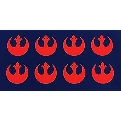 C60569 (Red) Small RC Rebel Alliance (Set of 8) 1x1inch: Automotive
