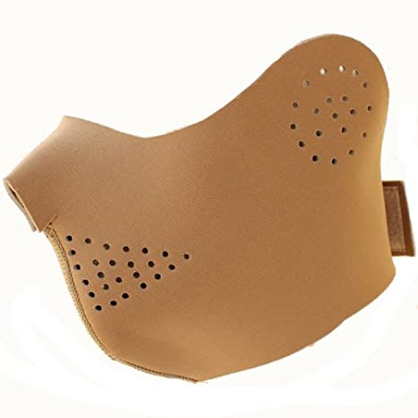 Masque De Protection Demi Visage Oreille Neoprene Souple Leger Tan