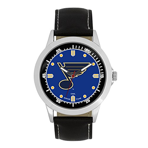 NHL St. Louis Blues Mens Player Series Wrist Watch, Silver, One Size