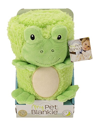 My Pet Blankie Original Ultra Soft 3-in-1-Blanket, Pillow, Plush Toy, Green Frog, 26