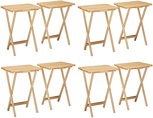 Winsome Alex Set TV Table, Natural 4 X Pack of 2