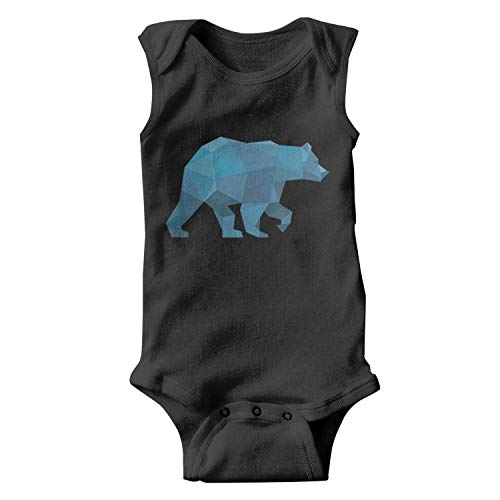 (Voslin Blue Plaid Big Bear Walk Unisex Newborn Black Onesies Cheap)