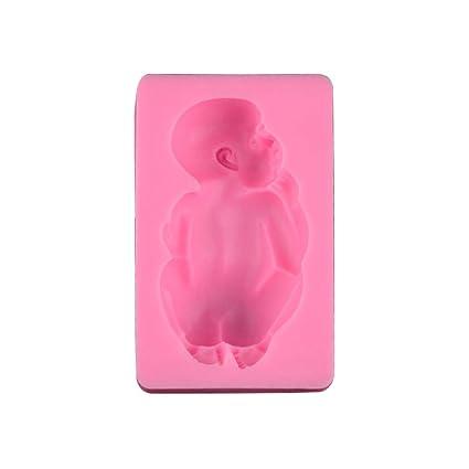 BESTONZON Moldes de Silicona para repostería de bebé para decoración de Tartas (Rosa)