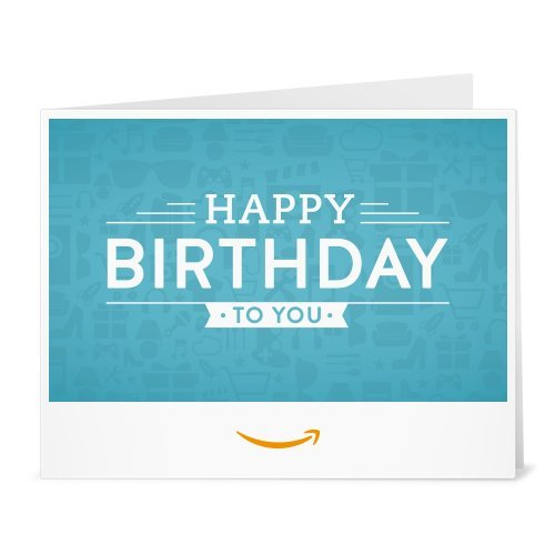 Amazon Gift Card - Print - Birthday Icons