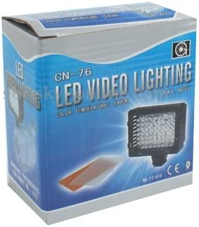 GuiPing 76 LED Video Light with Three Color Temperature Transparent Films Tawny//White//Purple Durable