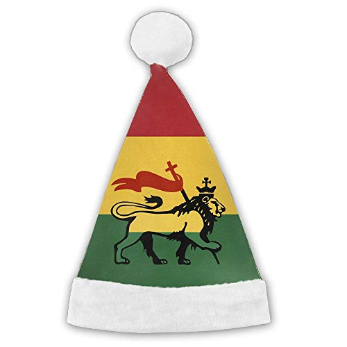 Reggae Rasta Lion Realistic 3D Print Santa Hat For Adult Or Children -