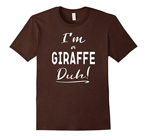 Quick Cute Last Minute Halloween Costumes (Mens I'm a Giraffe Duh Cute Halloween Costume T-Shirt 3XL Brown)