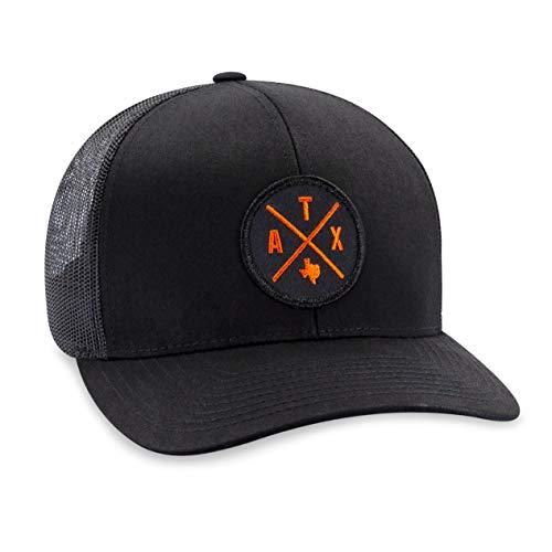(Austin Hat - ATX Trucker Hat Baseball Cap Snapback Golf Hat (Black))