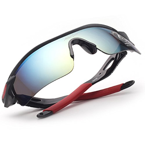 MiluoTech Polarized Sports Sunglasses for Men Women Cycling Riding Running Baseball Glasses (Best Ironman Costume)
