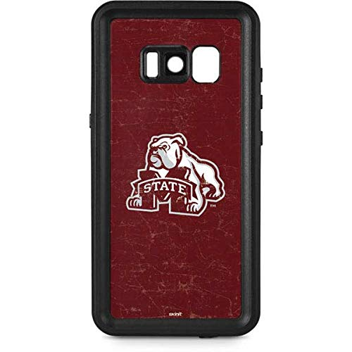 Skinit Mississippi State Bulldogs Distressed Galaxy S8 Waterproof Case - Officially Licensed College Phone Case Waterproof - Snow, Dust, Waterproof Galaxy S8 Cover