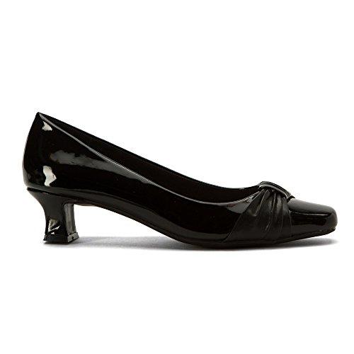 Easy Street Womens Waive Dress Pump Black Patent
