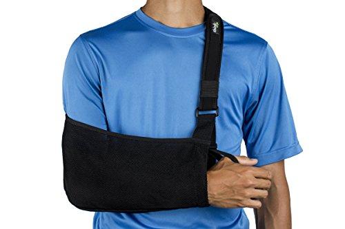 Think Ergo Arm Sling Sport - Ergonomic, Lightweight, Breathable Mesh, Neoprene Padded (Strap Arm Sling)